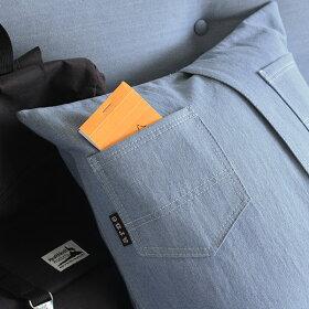 クッション中綿付き45×45おしゃれ日本製45cm北欧interiorcushionpainterデニム可愛いデニムクッションインテリアクッション無地モダン正方形クッションブルーシンプル雑貨レトロ中材付きポケットクッション