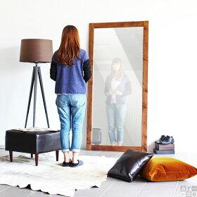鏡全身アンティークミラー大型ウッド姿見幅90木玄関全身鏡壁面ワイド特大大型鏡スタンドミラージャンボ日本製大型ミラー全身ミラー立て掛けスタンドワイドミラー天然木レトロ北欧ダンス大きい木製STYLEJUMBOMIRROR900ホワイト白