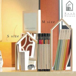【NEW】ブックエンドブックスタンド本立て本棚BookHouseブックハウス【Mサイズ】ブックエンド木製/ブックエンド倒れない/ブックスタンド木製/ブックスタンド卓上/本棚オシャレ/本棚薄型/桐箱/日本製/北欧/アーニーバーニー/フリート/【RCP】
