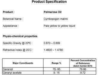 パルマローザ【エッセンシャルオイルアロマオイル精油エキゾチック系Palmarosa】