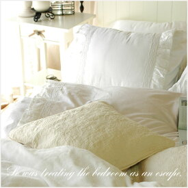 ベッドカバー シャビーホワイトフリルベッドカバー4点セット【クイーン】(ベッドスプレッド)ベットカバー 2ピローケース ベッドスカート ベッド |フリル ベットスカート クイーンサイズ スカート シャビーシック ホワイト 白 姫系 ベッドカバーセット ベットカバー