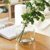 花瓶おしゃれ花びん【リサイクルガラスベースラウンドS】フラワーベース花器ガラスクリアシンプル大きい大きめ花フラワー植物枝物ディスプレイインテリア雑貨玄関寝室リビング
