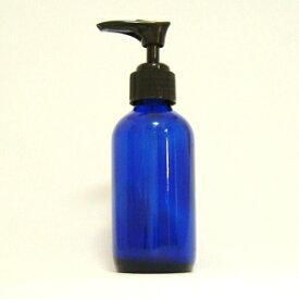 青色ガラス ポンプ瓶 120ml  (生活の木)
