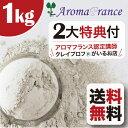 クレイ アロマフランス グリーン イライト 送料無料 アロマフランス高純度 グリーンイライト 1キログラムクレイパック…