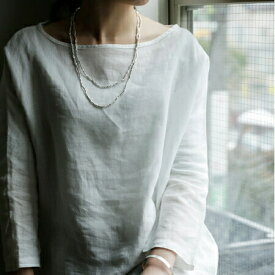 fog linen work フォグリネンワークシルバービーズネックレス LSILVER BEADS NECKLACE L