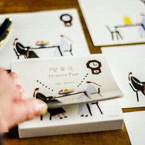 日本製 ネクタイ ブロックメモcozyca products のMemoPad 喫茶店MemoPad のりおとあさみ メール便