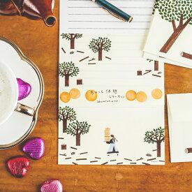 レターセット 美濃和紙 cozyca products 日本製 ネクタイ のりおとあさみ メール便 ねこを探しています ちょっと休憩 便箋 かわいい 童話のような物語のイラスト