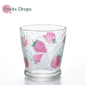 日本製 フルーツドロップ フリーカップ イチゴ 石塚硝子 かわいい グラス おしゃれ アデリア