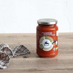 アルチェネロ 有機パスタソース トマト&バジル 350g