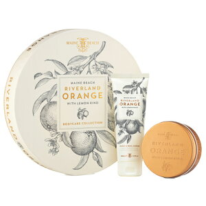 MAINE BEACH マインビーチ Riverland Orange リバーランドオレンジ DUO Gift Pack(Flat Pack) デュオギフトパック◆手/ボディケア/ローション/クリーム/乾燥/保湿/肌荒れ/アロマ/ギフト