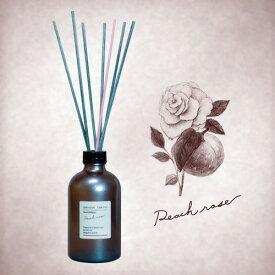 GRASSE TOKYO リードディフューザー 250ml Peach rose ピーチローズ Reed Diffuser グラーストウキョウ◆ルームフレグランス/アロマ/フレグランススティック/fragrance/room/aroma/stick/植物由来/ナチュラル/natural