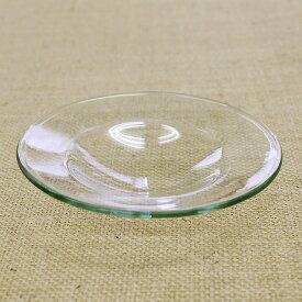 ガラス 受け皿 (替え皿 上皿 スペア) 【ガラス 皿 アロマポット アロマバーナー アロマテラピー アロマ】