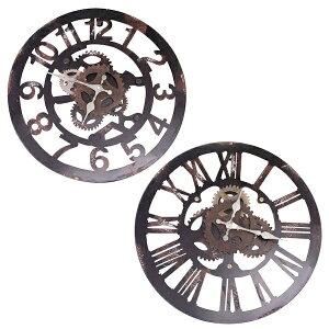時計掛け時計掛時計壁掛け時計壁掛け壁飾り壁面デコウォールディスプレイメンズインテリアオブジェ39×39φ39cmアナログローマアラビアアンティーク風北欧風スタイリッシュおしゃれウォールクロックミル