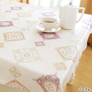マルチクロス マルチカバー テーブルクロスおしゃれ オパール加工 涼しげ 華やか洋風 白 ホワイト 緑 グリーン 青 ブルー紫 パープル 黄色 イエロー 110cm×110cmオパールプリント トップクロス