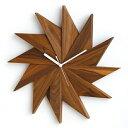 時計掛け時計掛時計壁掛け時計壁掛け壁飾り壁面デコウォールディスプレイオブジェウォルナットウォールナット無垢アナログ時計おしゃれ送料無料Latree/ラトレナチュラルウッドウォールクロック風車