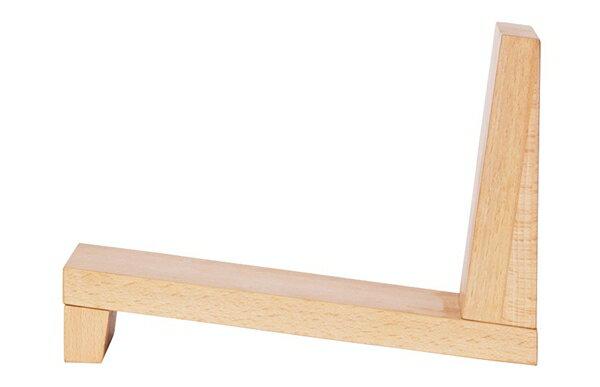 本立て ブックスタンド ブックストッパー CDスタンド仕切り 天然木 シンプル インテリア雑貨 オブジェウォールナット 傾斜 斜め おしゃれ お洒落Latree/ラトレナチュラルウッド ブックエンド チルト ビーチ
