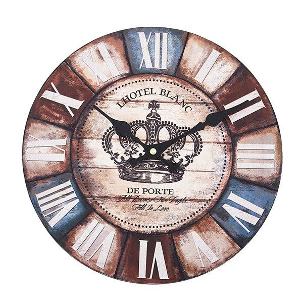 wall clock 壁掛け時計 掛け時計 掛時計 時計壁掛け 壁飾り ウォールディスプレイ ケンジントンオブジェ 28×28 φ28cm アナログ ローマ数字アンティーク風 北欧風 藍色 西海岸インテリアウォールクロック ラウンド クラウンメーカー直送商品