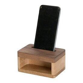 スマフォスピーカー 木製 スマートフォンスピーカーiPhoneスタンド 携帯置き 天然木 ウォールナットスマートホンスタンド タブレットスタンド携帯ホルダー スマホホルダー おしゃれLatree/ラトレナチュラルウッド スマホスピーカー ウォルナット