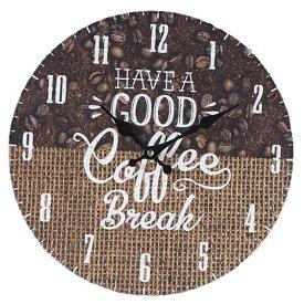 wall clock 壁掛け時計 掛け時計 掛時計 時計壁掛け 壁飾り ウォールディスプレイオブジェ 33×33 φ33cm アナログ アラビア数字アンティーク風 北欧風 西海岸インテリアウォールクロック ラウンド コーヒービーンズメーカー直送商品