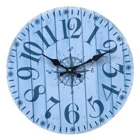 wall clock 壁掛け時計 掛け時計 掛時計 時計壁掛け 壁飾り ウォールディスプレイオブジェ 33×33 φ33cm アナログ アラビア数字アンティーク風 北欧風 西海岸インテリアウォールクロック ラウンド マリンメーカー直送商品