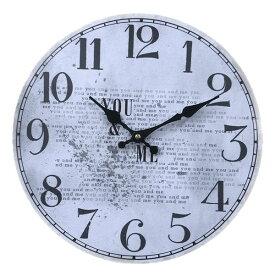 wall clock 壁掛け時計 掛け時計 掛時計 時計壁掛け 壁飾り ウォールディスプレイオブジェ 33×33 φ33cm アナログ アラビア数字アンティーク風 北欧風 西海岸インテリアウォールクロック ラウンド YOU&MEメーカー直送商品