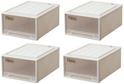 【クーポン対象品】天馬 フィッツケースクローゼット(M-53)『お買い得4個セット』収納ケースといえばFitsケース。クローゼット収納シリーズ!