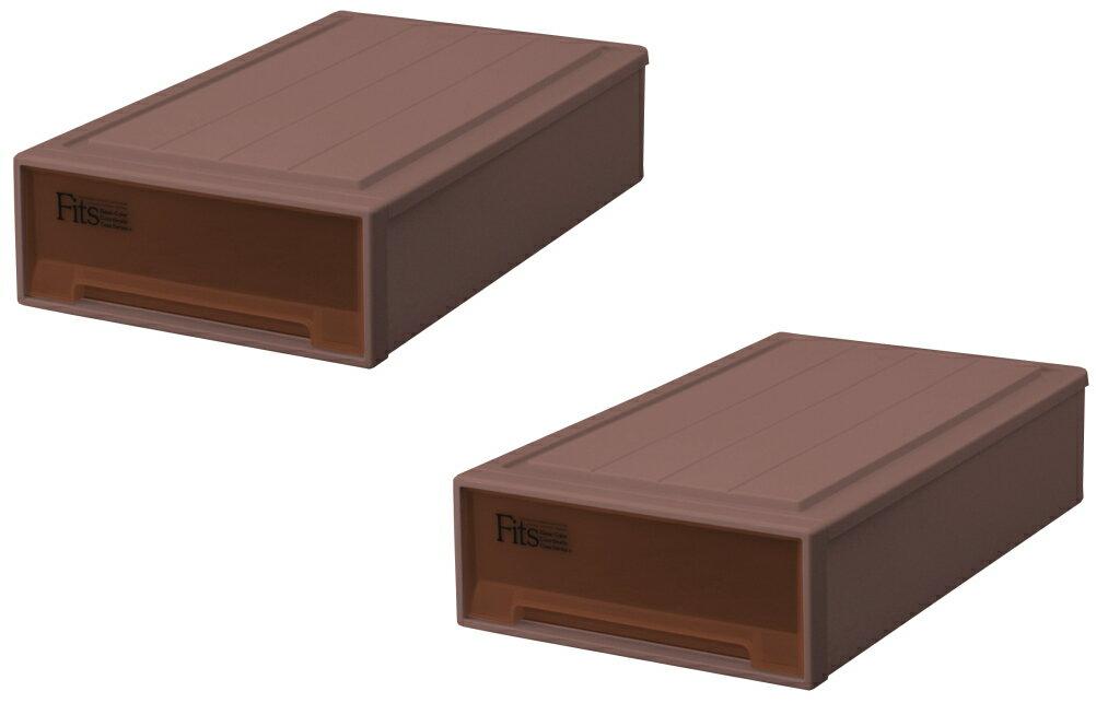 天馬 フィッツケース(スリムL)『2個セット』収納ケースといえばFitsケース 押入れ収納シリーズ