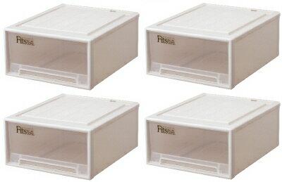 天馬 フィッツケースクローゼット『ワイド』(M-53)『お買い得4個セット』収納ケースといえばFitsケース。クローゼット収納シリーズ!