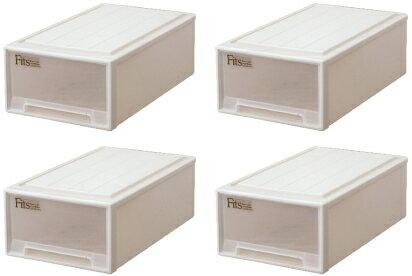 天馬 フィッツケース(ミドル)『お買い得4個セット』収納ケースといえばFitsケース。押入れ収納シリーズ!