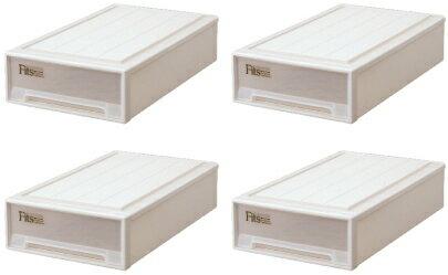 【クーポン対象品】天馬  フィッツケース(スリムL)『お買い得4個セット』収納ケースといえばFitsケース。押入れ収納シリーズ!