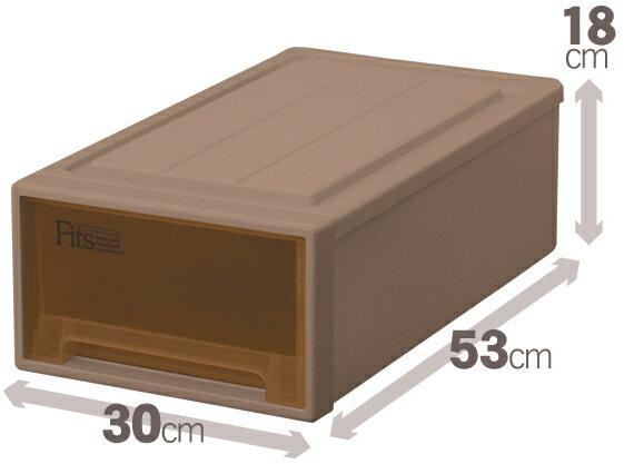 天馬 フィッツケースクローゼット(S-30)(ブラウン)収納ケースといえばFitsケース クローゼット収納シリーズ