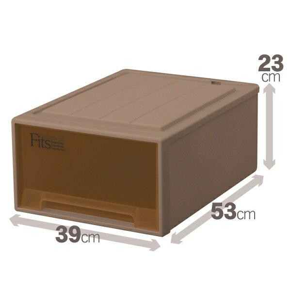 天馬 フィッツケースクローゼット(M-53)(ブラウン)収納ケースといえばFitsケース クローゼット収納シリーズ