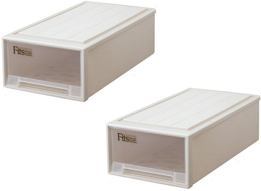 【クーポン対象品】天馬  フィッツケース(ロング)『お求めやすい2個セット』収納ケースといえばFitsケース。押入れ収納シリーズ!