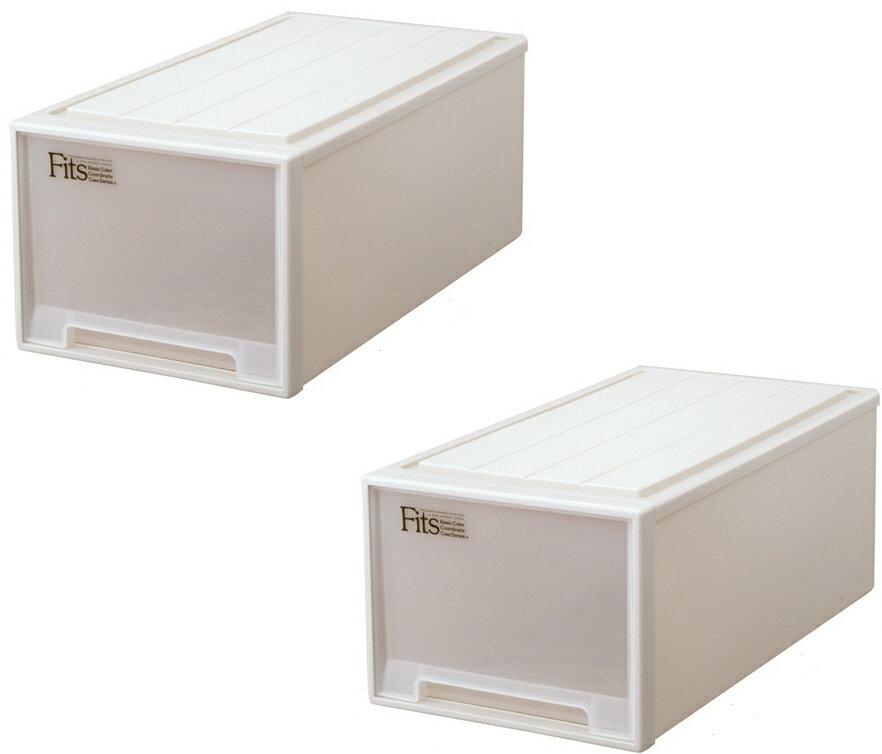 【クーポン対象品】天馬  フィッツケース(ディープ)『お求めやすい2個セット』収納ケースといえばFitsケース。押入れ収納シリーズ