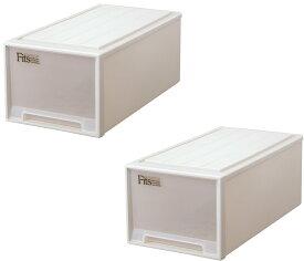 天馬 フィッツケース ディープ【お求めやすい2個セット】収納ケースといえばFitsケース。押入れ収納シリーズ
