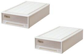 天馬 フィッツケース スリムL【お求めやすい2個セット】収納ケースといえばFitsケース 押入れ収納シリーズ