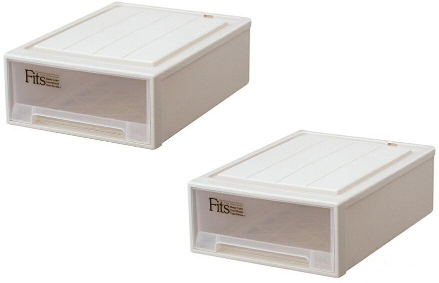 【クーポン対象品】天馬 フィッツケースクローゼット(S-53)『お求めやすい2個セット』収納ケースといえばFitsケース。クローゼット収納シリーズ!
