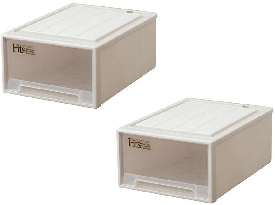 【クーポン対象品】天馬 フィッツケースクローゼット(M-53)『お求めやすい2個セット』収納ケースといえばFitsケース。クローゼット収納シリーズ!