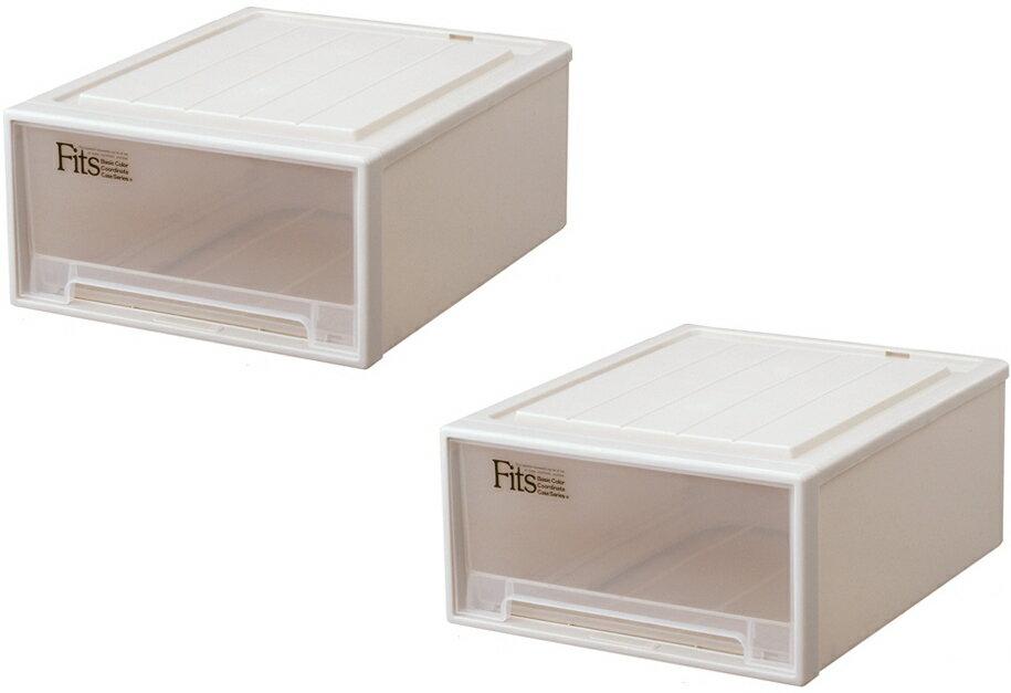天馬 フィッツケースクローゼット『ワイド』(M-53)『お求めやすい2個セット』収納ケースといえばFitsケース。クローゼット収納シリーズ!