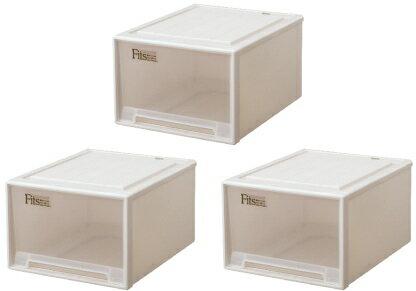 【クーポン対象品】天馬 フィッツケースクローゼット『ワイド』(L-53)『お買い得3個セット』収納ケースといえばFitsケース。クローゼット収納シリーズ!