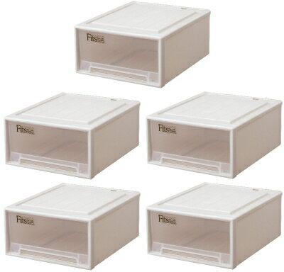 【クーポン対象品】天馬 フィッツケースクローゼット『ワイド』(M-53)『お買い得5個セット』収納ケースといえばFitsケース。クローゼット収納シリーズ!