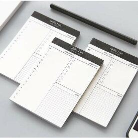 1冊:さっと取り出して使える、日間予定とやることのメモ帳。デジタル断捨離向け。 TODO やることリスト スケジュール ビジネス シンプル コンパクト メモ ミニ