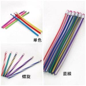 手をペンに合わせるのではなくペンが手の位置にすっぽり収まる、フレキシブル鉛筆。 柔らか くねくね 曲がる 鉛筆 消しゴム 3本セット