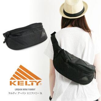 KELTY (Kelty) shoulder bag mini Fanny Shoulder bag urban all black diagonal line bag men and women and for women's men's (2592102 A)