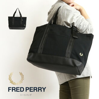 FRED PERRY (Fred Perry) tote bag fawn material handbag bag lady men man and woman combined use (f9542)
