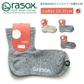 【MAX20%OFFクーポン対象】rasox(ラソックス) 靴下 ショートソックス ウィメンズ リネン メランジ 吸放湿性 コンフォート レディース 女性用 日本製 (ca181lc10)【ラッキーシール対応】プレゼント ギフト 父の日