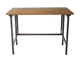 テーブル 折りたたみ デスク フラップ 作業机 作業テーブル 作業台 リビング おしゃれ かっこいい スチール PVC 木目 ビンテージ 幅100cm
