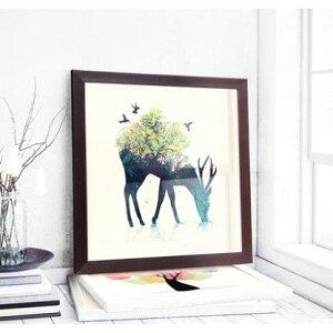 刺繍キット 刺繍 クロスステッチ 鹿 初心者 図案印刷 指ぬき 糸通し付き 壁アート 壁飾り