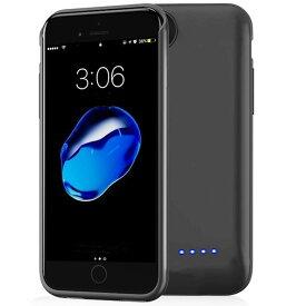 iPhone6/6s/7/8 対応 バッテリー内蔵ケース 6800mAh バッテリーケース 充電ケース iPhone7 対応 ケース バッテリー 大容量 4.7インチ用 黒