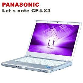 モバイルPC /中古パソコンPC/Panasonic Let's note CF-LX3 薄型軽量14インチ/モバイルパソコン【第四世代Core i5-4300U 1.90GHz 快適4GBメモリ 超高速SSD128GB USB3.0 Webカメラ 無線 Bluetooth HDMI】中古パソコン パソコン中古 Win10 Windows10 Pro